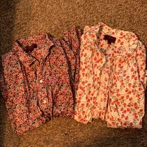 Jcrew liberty floral fabric button downs